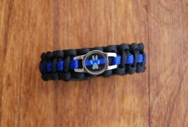 Dog Thin Blue Line Police K9 Bracelet